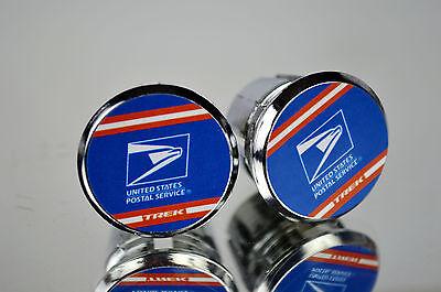 Vintage TREK United States Postal Service Chrome Racing Bar Plugs Repro Caps