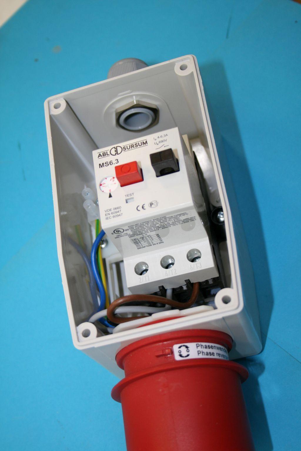 Interrupteur moteur 0,06-0,1 KW, protection moteur 0,25-0,4 0,25-0,4 0,25-0,4 a, compteur Affichage, 5x16a CEE 4f1581