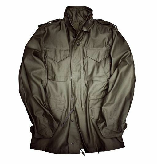 Alpha Industries m-65 Biker Giacca 110103 NUOVO OLIVE NUOVO
