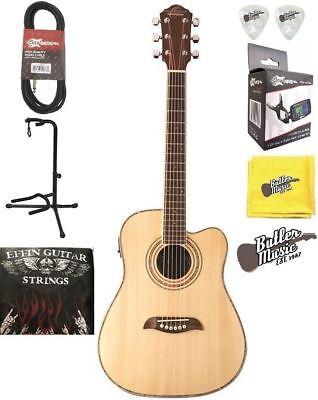 More Acoustic Electric Guitars Musical Instruments & Gear Oscar Schmidt Og1ce A/e 3/4 Dreadnought Size Guitar W/effin Strings