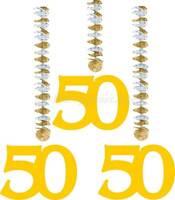 Rotorspiralen Zahl 50 Gold Goldene Hochzeit Girlande Party Fest Feier Dekoration