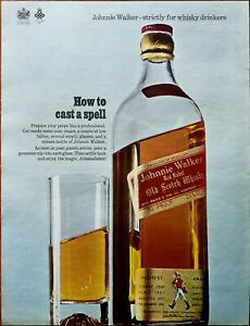 Johnnie Walker Red Label Whiskey How To Cast A Spell Vintage Advertisement 1966