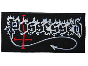"""POSSESSED Logo Iron On Sew On Embroidered Patch 4.6/""""x2.1/"""""""