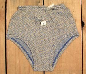 Vintage 1940s Jungen Badeanzug Zickzack-Muster Nylon Knit Badeanzug NEU NOS Sz.8