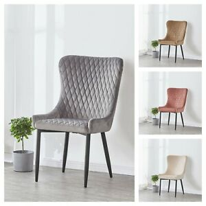 Barclay-Velours-Ecrase-Matelasse-Diner-Chaise-Canape-Maison-Scandinavian-Meuble