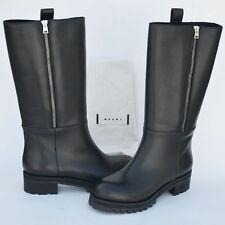 MARNI New sz 39 - 9 Authentic Designer Womens Riding Shoes Boots zip black
