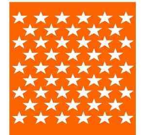 America 50 Stars Us Flag Decor Stencil 7x8 Plastic Die Cut Sheet