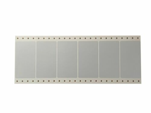 Polyester Etiketten 89x48mm silber 6 Stück