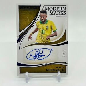 2020 Panini Immaculate Collection Soccer NEYMAR JR #15/15 Brazil Autograph