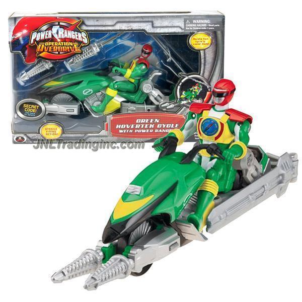 NEW Bandai Power Rangers Operation Overdrive 8.5  Vehicle verde HOVERTEK CYCLE