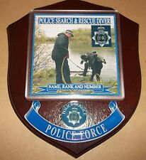 Police Search and Rescue Diver Wall Plaque personalised free of charge.