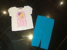Juicy Couture New & Gen. Baby Girl Two Piece White/Turquoise Set Age 6/12 MTHS