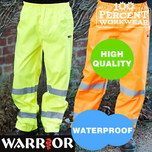 Pro-Trade-High-Quality-Waterproof-High-Visibility-Over-Trousers-Pants-Hi-Viz-Vis