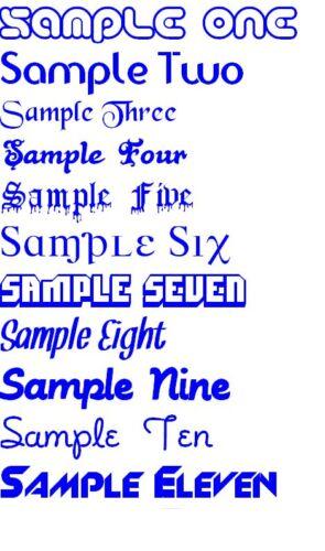 Custom Bike Name Stickers Transfers Decals 2cm x 2