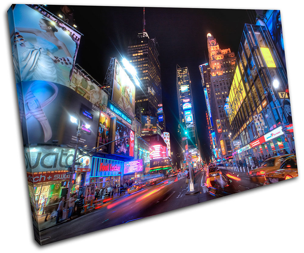 New pa York Times Square City SINGLE LONA pa New rojo  arte Foto impresion 03777f