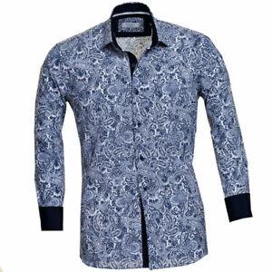 Hffan Herren Hemd Bedruckt Stern Muster Einfacher 9