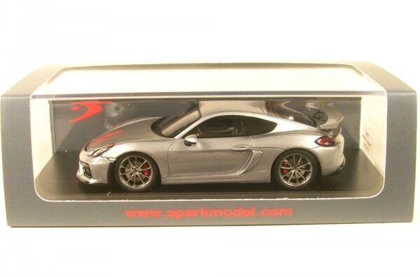 Porsche Cayman GT4 (argento) 2016