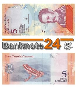 Venezuela 5 Bolivares 2018-01-15 AU Pn 102a Prefix A