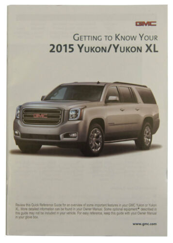 2015 GMC Yukon//Yukon XL US Owners Manual Book W//Warranty Book New OEM 23248415