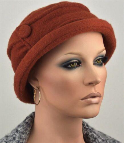 Damen Hut Mütze Wollhut Wollmütze zimt leicht Lagenlook Vintage Damenhut Melly