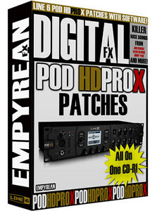 Line 6 POD HD Pro X Patches Guitar Effects Presets Amp Tone
