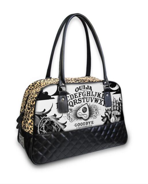 Liquor Brand Ouija Board Occult Punk Goth Overnight Bowler Bag Purse B Cq 028