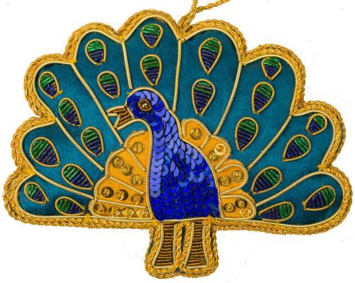 India South Asia Peacock Fair Trade Christmas Ornament Eco