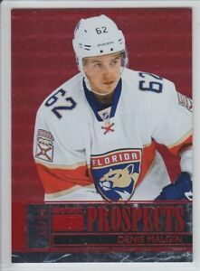 2016-17-FLEER-SHOWCASE-DENIS-MALGIN-RC-50-RED-RUBY-ROOKIE-SKYBOX-PREMIUM-Panthe