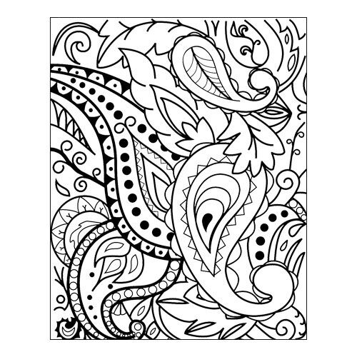 Rubber stamp Paisley by lisa pavelka