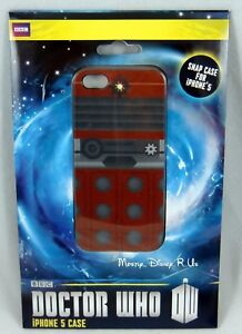 the latest 1b490 26b5d Details about NEW Doctor Dr Who Red Dalek iPhone 5 Snap Case Cell Phone  Cover Robot IP5