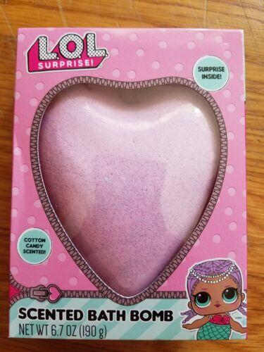 NEW HEART LOL Cotton Candy Scented Bath Bomb Fizz Heart Surprise Inside 6.7oz