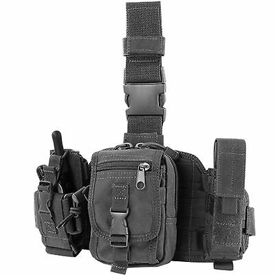 Condor MA25 Black Tactical PALS MOLLE Modular Utility Drop Down Thigh Leg Rig