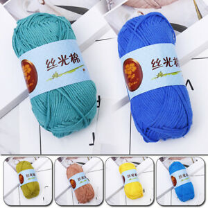 50g-Wool-Crochet-Cotton-Thread-Hand-Knitting-Yarn-For-Sweater-Scarf-18Colors