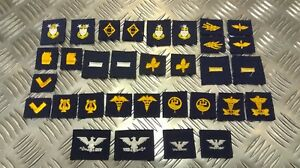 Genuine-US-NAVY-NAVAL-Collar-Device-Patches-Various-Insignia-USN-1-Pair-NEW