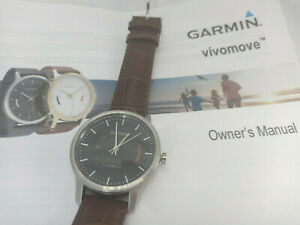 Garmin Vivomove Brown Leather Bluetooth Activity Tracker Smart Watch - Used