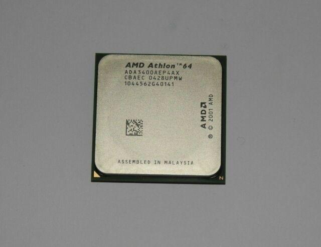 AMD Athlon 64 3400+ 2,4GHz (ADA3400AEP4AX) Prozessor Sockel 754 + Wärmeleitpaste