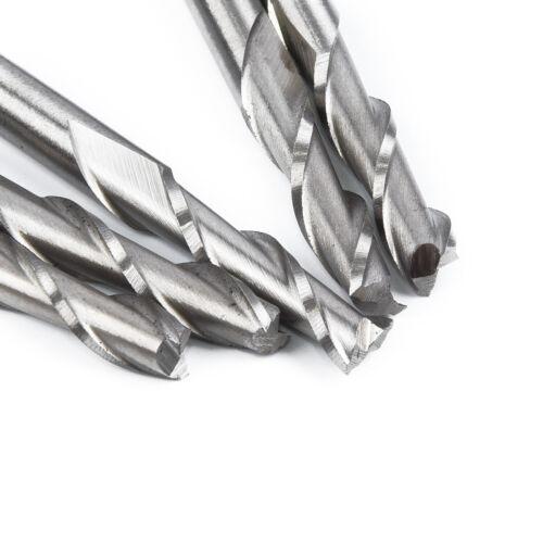 5x/_ 6mm 2 Flute Spiral Bit HSS-Aluminium CNC Cutter Extra Long End Mill Double