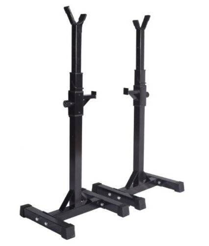 Professional Pair Heavy Duty Adjustable Gym Squat Rack Stands FREE SHIPPING