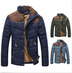 6360f76a2 Hot Men s Slim Fit Winter Warm Thermal Wadded Jacket Cotton-padded ...