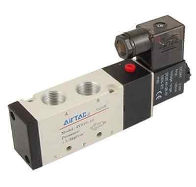 "4 /""Elektro Magnetventil 5 Port 2 Positionen 5//2 Wege 4V210-08 DC//AC G1"