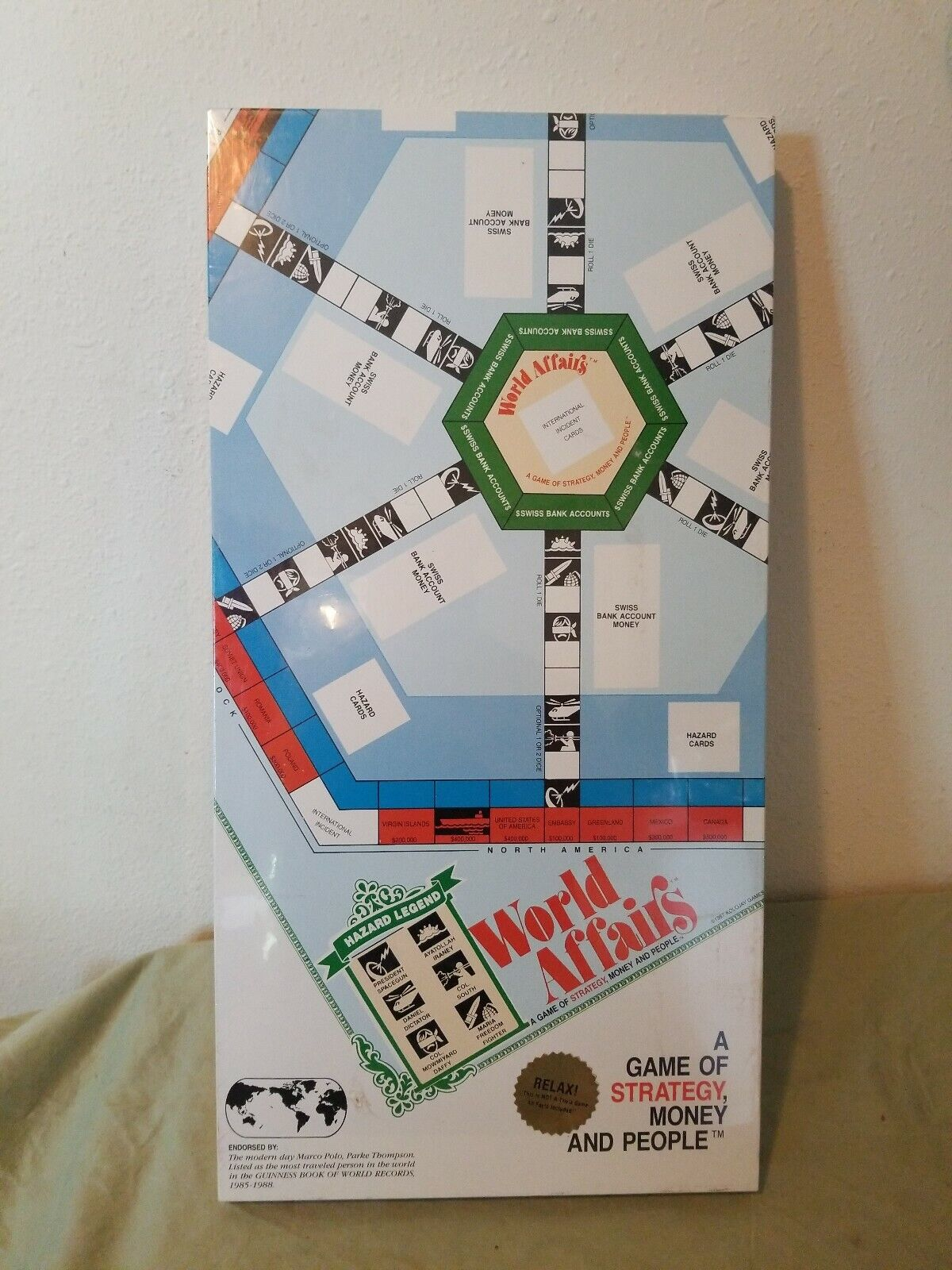 RARE   NEW FACTORY SEALED  WORLD AFFAIRS BOARD GAME  MINT