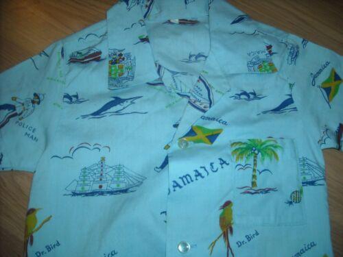 VTG BOYS KIDS 8 JAMAICA DR BIRD ISLAND FISH FLAG H