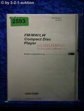 Sony Bedienungsanleitung CDX C90R CD Player (#2593)