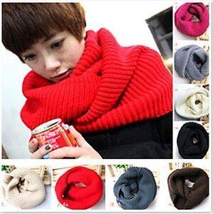 Écharpe Dames Hommes Mode Hiver Crochet Tricot Long Tube Cache-Col ... 8ae5f011606