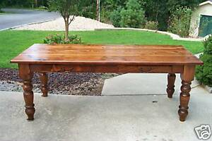Details About Antique Heart Pine Harvest Dining Table Reclaimed Farmhouse Rustic