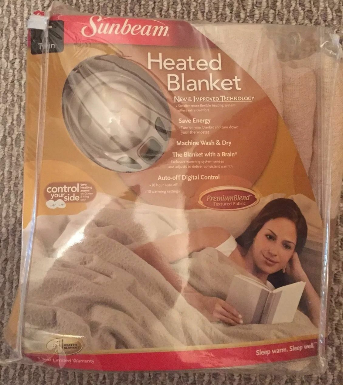 NEW Sunbeam Heated Blanked TWIN. Unopened Electric
