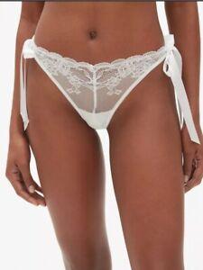 113122595 Nwt Gap Bridal Underwear Lace Side Tie Thong Panties White Wedding ...