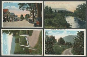 Hunter-NY-Four-c-1910-1920s-Postcards-MAIN-STREET-BRIDGE-SCHOHARIE-CREEK