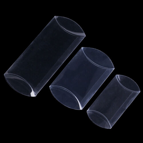 50pcs pillow shape clear PVC candy box packaging gift box wedding party favor WS