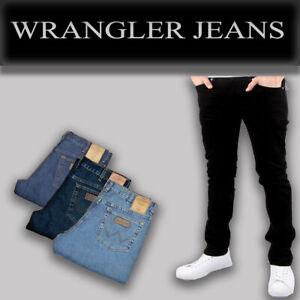 Jean-De-Hombre-Wrangler-iconico-Stretch-Denim-Regular-Fit-Para-inferior